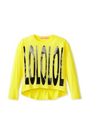 52% OFF Isaac Mizrahi Girl's LOLOLOL Tee (Sunshine Yellow)