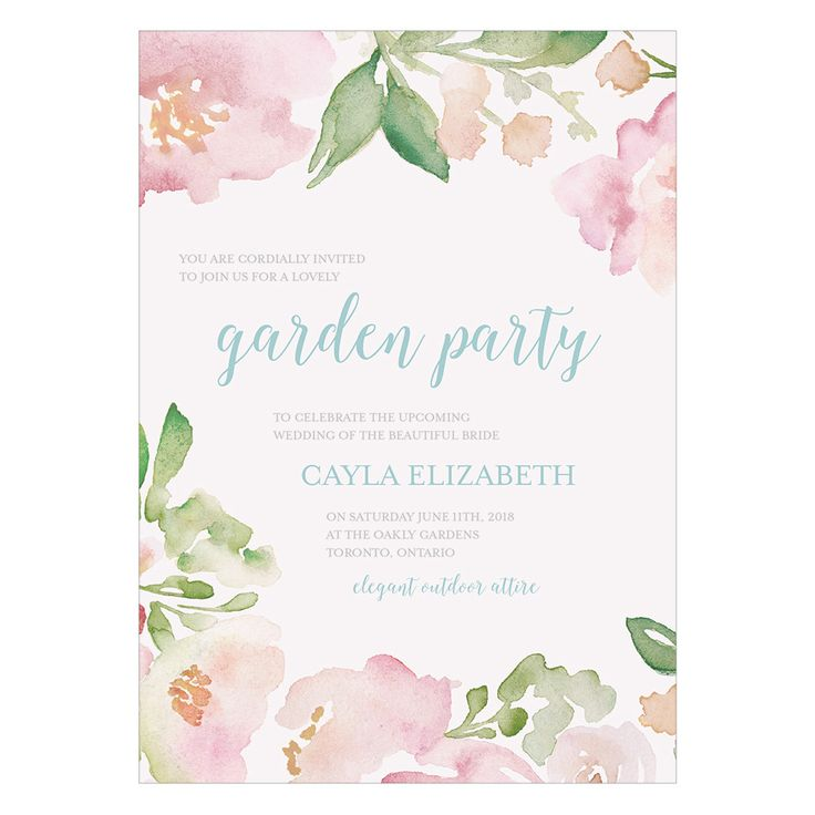 Inspired by original water color paintings, this gorgeous design celebrates all the splendor of a floral garden. The soft yet oh-so pretty color palette has a timeless and romantic feel that will comp