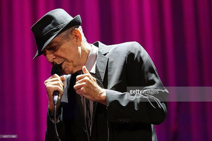 Leonard Cohen performs live for fans at Rod Laver Arena on November 20, 2013 in Melbourne, Australia.