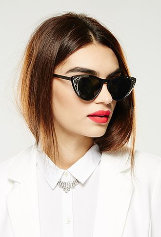 Matte Cat Eye Spitfire Sunglasses | FOREVER21 - 1000080690