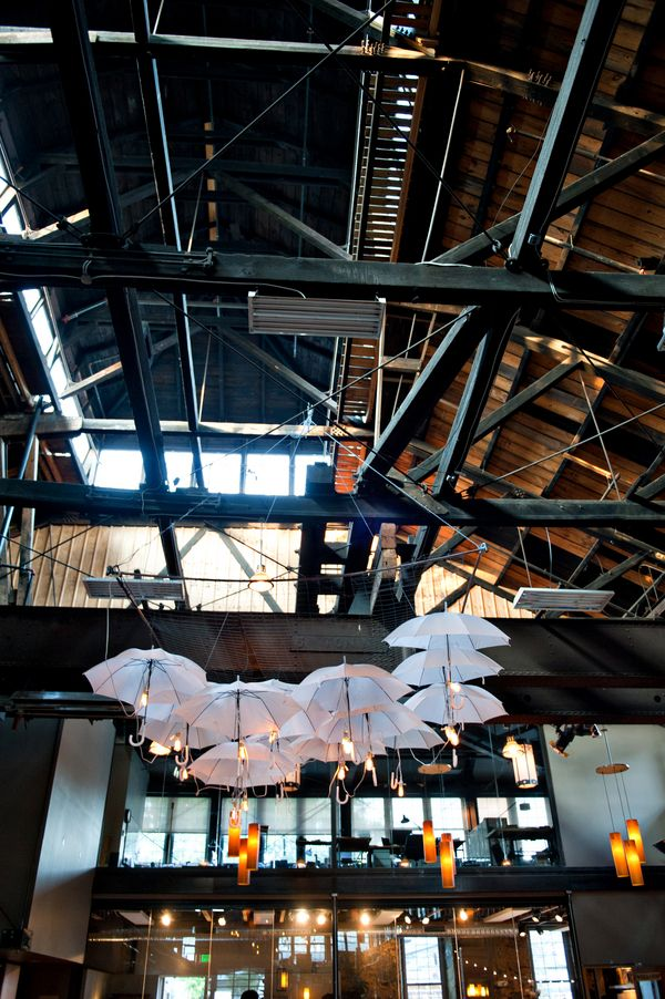An Umbrella Chandelier At The COOLEST Baltimore MD Wedding Venue EVER