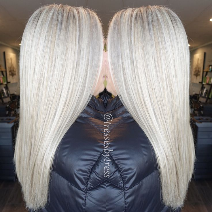 Icy Blonde Platinum Ombre Balayage Pinterest Icy