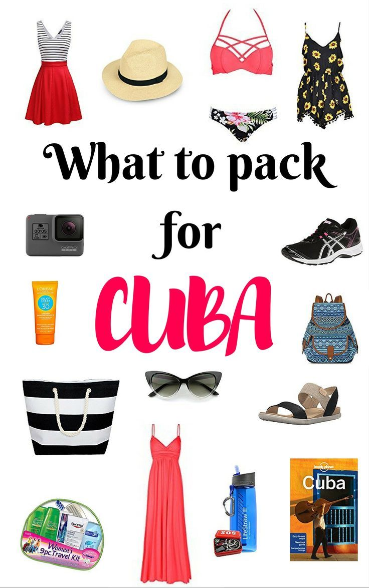 Packing and preparing for a trip to Cuba can be challenging. Here is a list of must haves for female travellers going to Cuba. #cuba #packinglist
