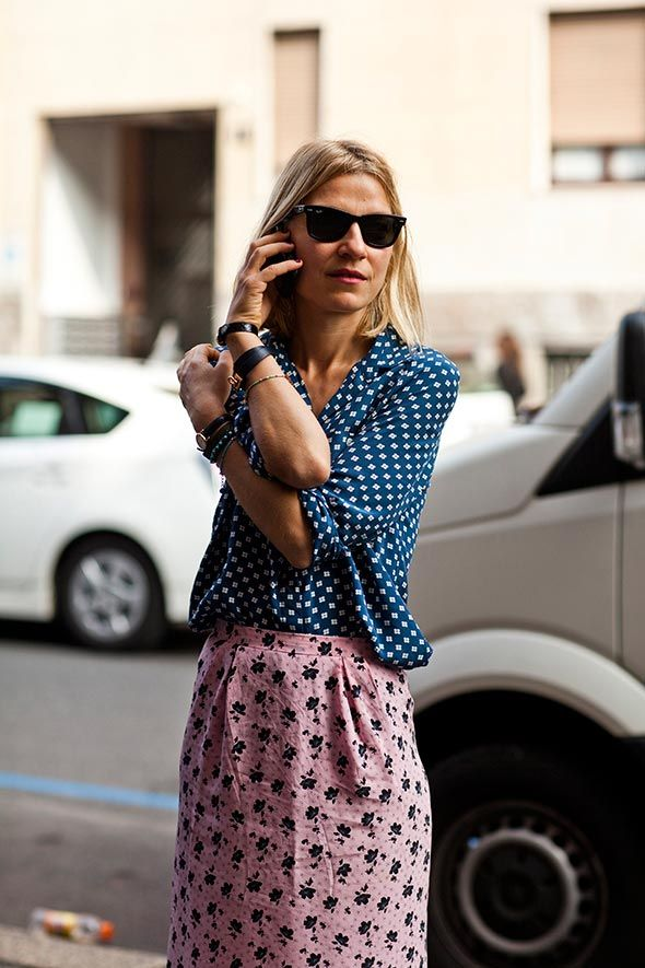 Adore the laid back mix of prints via @Sartorialist