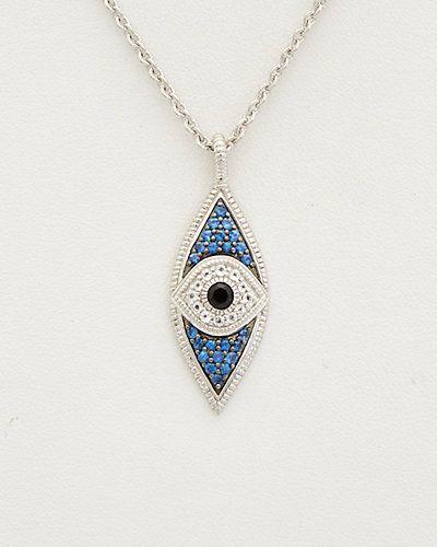 Rue La La — Judith Ripka Silver 0.79 ct. tw. Gemstone Evil Eye Necklace