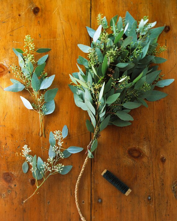 """""""Sitting at the market all day, these plants go without water,"""" says Hannah Milman, Martha Stewart Living's executive editorial director of crafts. """"Conditioning rehydrates the branches, and this helps greenery last longer."""" Before making wreaths or garlands, fill buckets with room-temperature water. Using a hand pruner, make diagonal cuts through stems, then gently crush the exposed end with a small hammer. Set in the water for a few hours before working with the plants."""