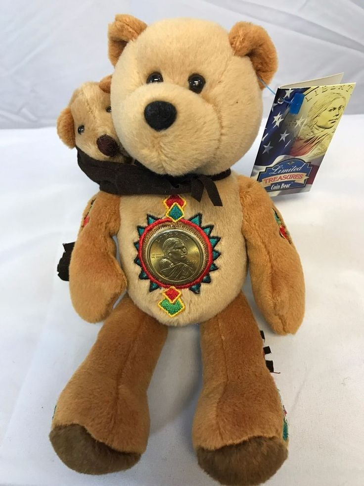 Sacagawea and Pomp Dollar coin bear by Limited Treasures - NEW #LimitedTreasures
