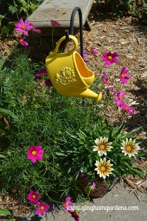 Upcycled Vintage Garden Decor Vintage Garden Decor Garden Accessories Vintage Gardening