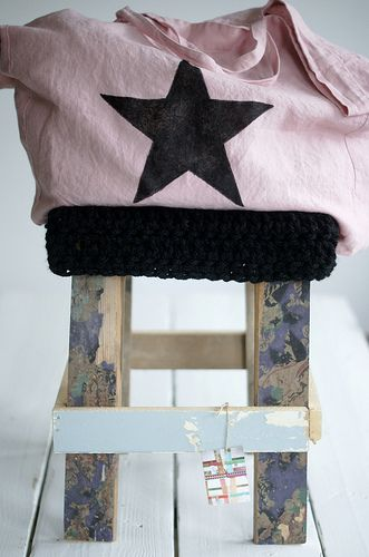 in love with the bag and the wood wool stool by www.woodwoolstool.com