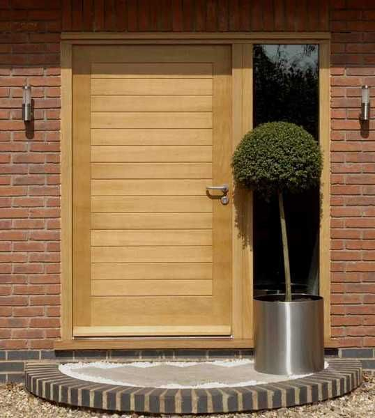 Solid Oak Contemporary Door