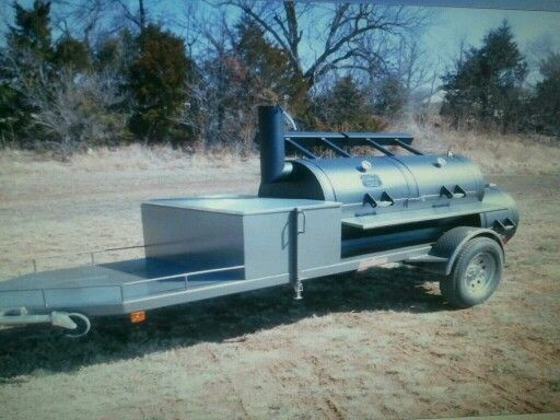 This Horizon Trailer Smoker has the ultimate storage! Call and order yours today. 580-336-2400.