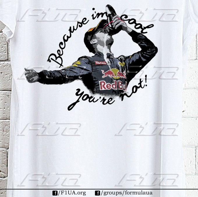 """""""Риккардо"""". Доступны все размеры футболок. Есть мужские, женские, детские модели. Заказы принимаем на страницах F1UA, Highway и в группе formulaua."""