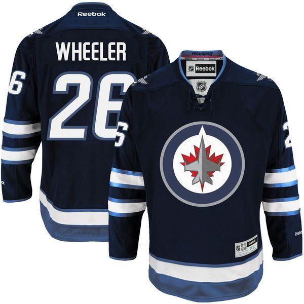 Mens Winnipeg Jets Blake Wheeler Reebok Navy Blue Premier Player Jersey