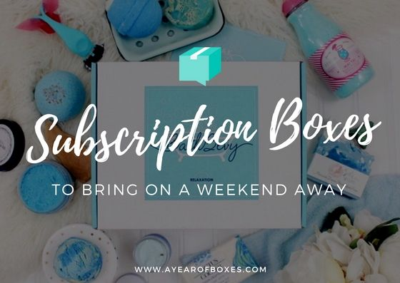 Top 10 Subscription Boxes to Bring on a Weekend Away https://www.ayearofboxes.com/subscription-box-lists/top-10-subscription-boxes-to-bring-on-a-weekend-away/
