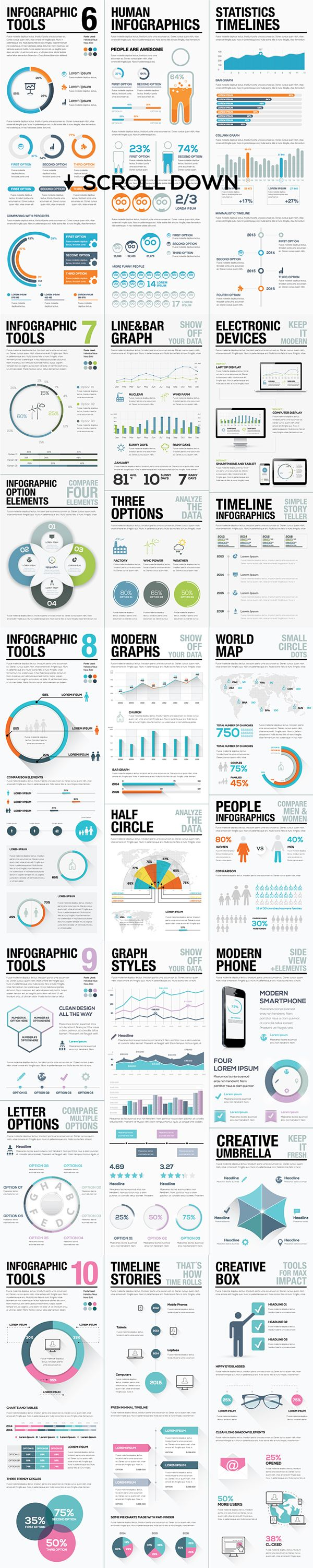 Infographic Elements Bundle on Behance