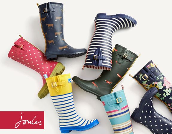 Need new wellies or wellybobs for Autumn?  Joules have some FANTASTIC new prints in stock.  On the page linked there's also a discount code for 10% off.