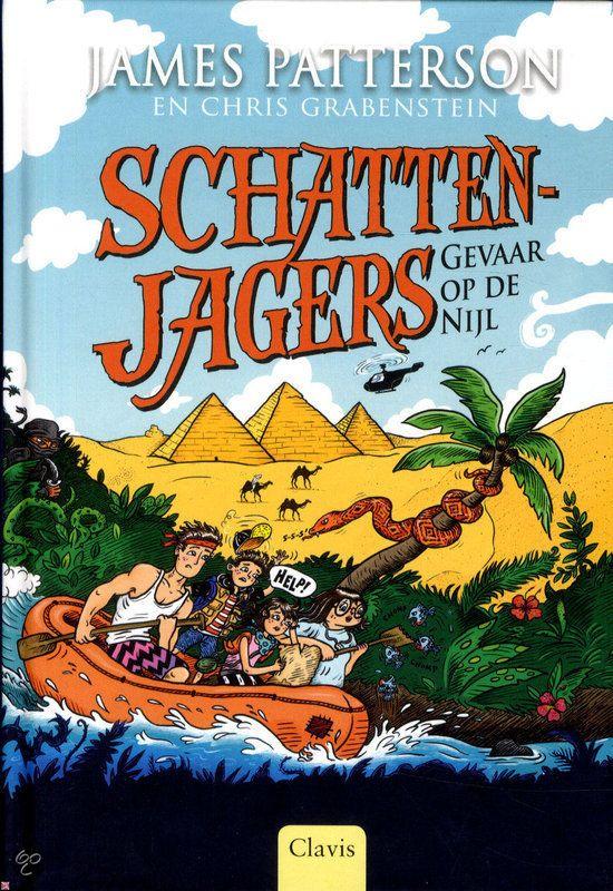 Gevaar op de Nijl - James Patterson. Hun moeder is in handen van piraten. Dus gaan Tommy, Storm, Bick en Beck op bevrijdingstocht: naar de Nijl in Afrika, de piramides van Egypte en misschien naar een schat in de diepte. Reserveer: http://www.theek5.nl/iguana/?sUrl=search#RecordId=2.324691