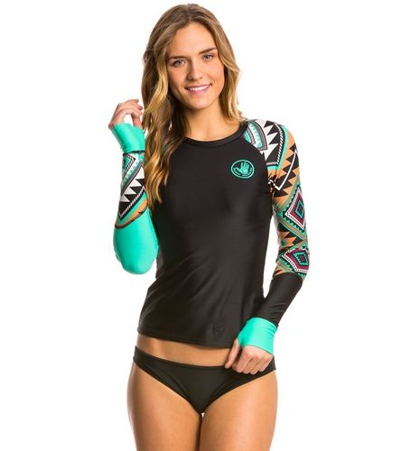 Body Glove Breathe Women's Maka Sleek Long Sleeve Rash Guard at SwimOutlet.com - Free Shipping