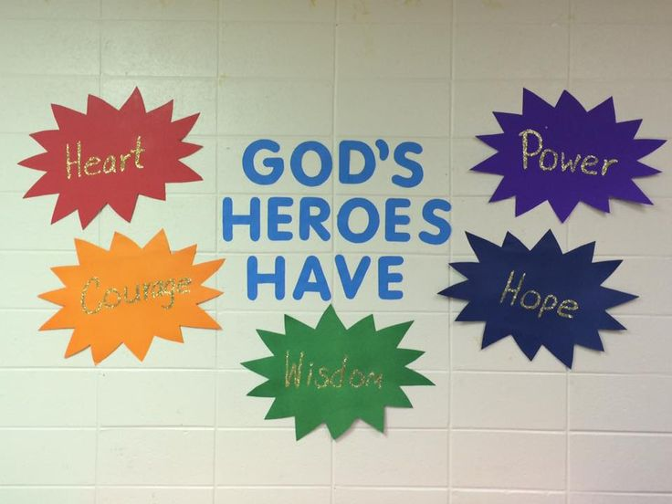 Great hallway idea to carry the key learnings from the Hero Codes! cokesburyvbs.com