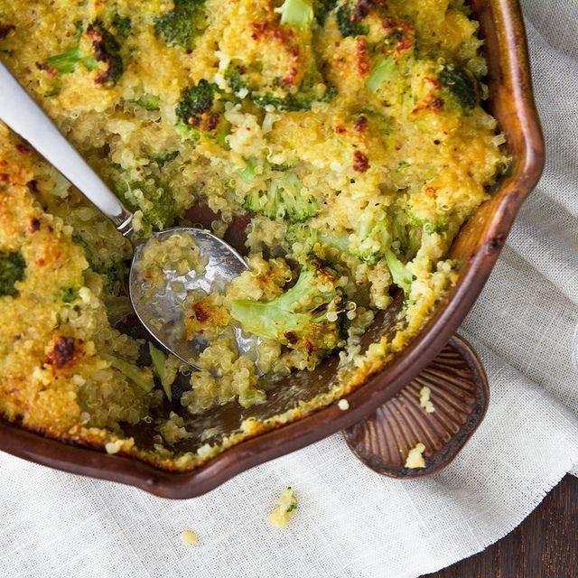 Cheesy Broccoli Quinoa Casserole Recipe | Confections of a Foodie Bride