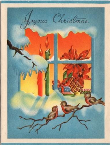 Joyous Christmas. http://www.pinterest.com/queenephemera/christmas-birds-images-ephemera/