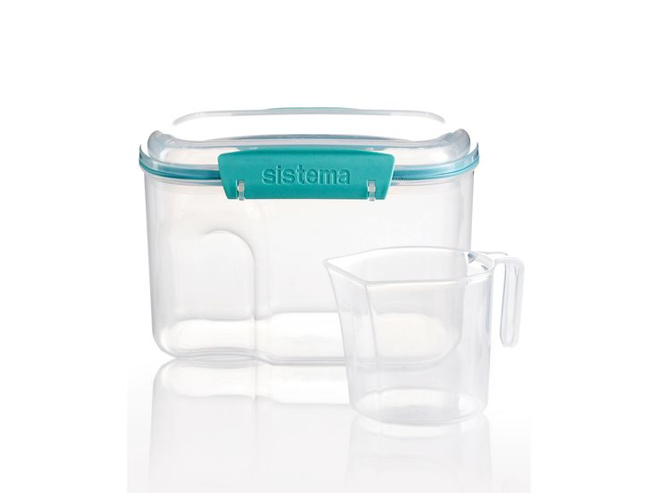 Martha Stewart Collection Storage Container, 53 Oz. with Measuring Cup