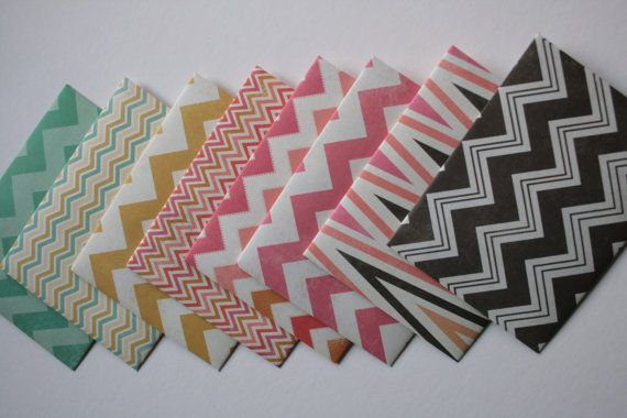 Chevron Envelopes  Chevron Paper  Handmade Envelopes  by PaperLoom, $10.00...This etsy shop is owned by the mom of two of my students. She's super creative!!!