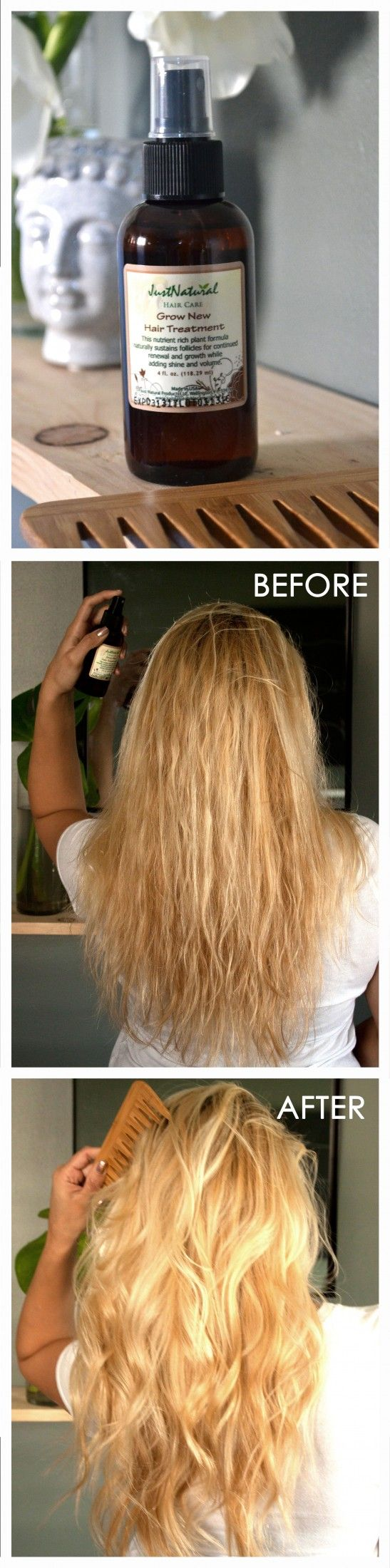 I grew fuller and healthy hair with Just Natural's Grow New Hair Treatment.