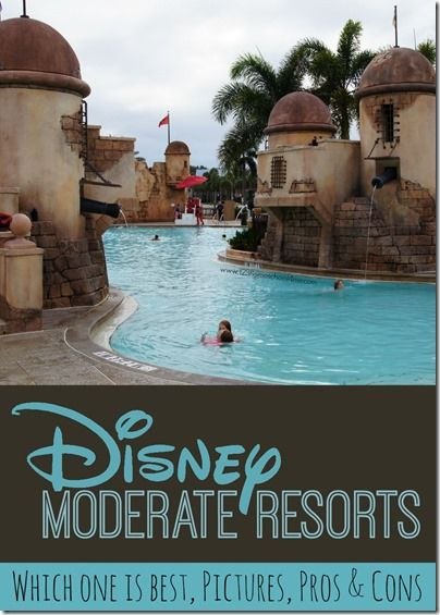 Disney Moderate Resorts - which one is best for your next family vacation, pictures, pros and cons for each Disney World hotel.