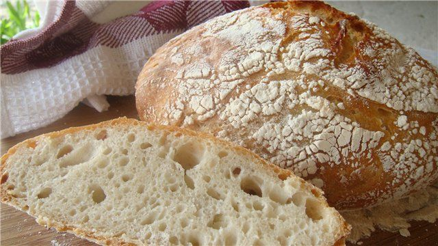 Домашний хлеб без замеса