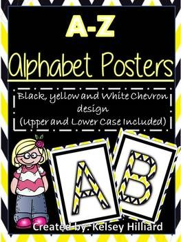 This product contains alphabet posters in (White, Yellow and Black Chevron Design)Upper and Lower Case letters IncludedCreated By: Kelsey Hilliard