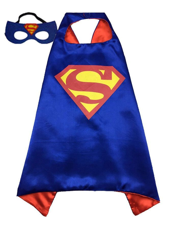 Superman Superhero Cape and Mask Set. Ready to Ship. by LilPartyTreasures on Etsy