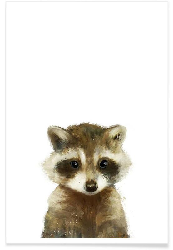 Little Raccoon als Premium Poster von Amy Hamilton   JUNIQE