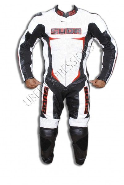 Suda Minchi One Piece Motorbike Racing Leather Suit