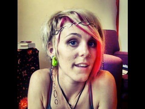 Putting in hair jewellery. Hippie hair short hair  festival style