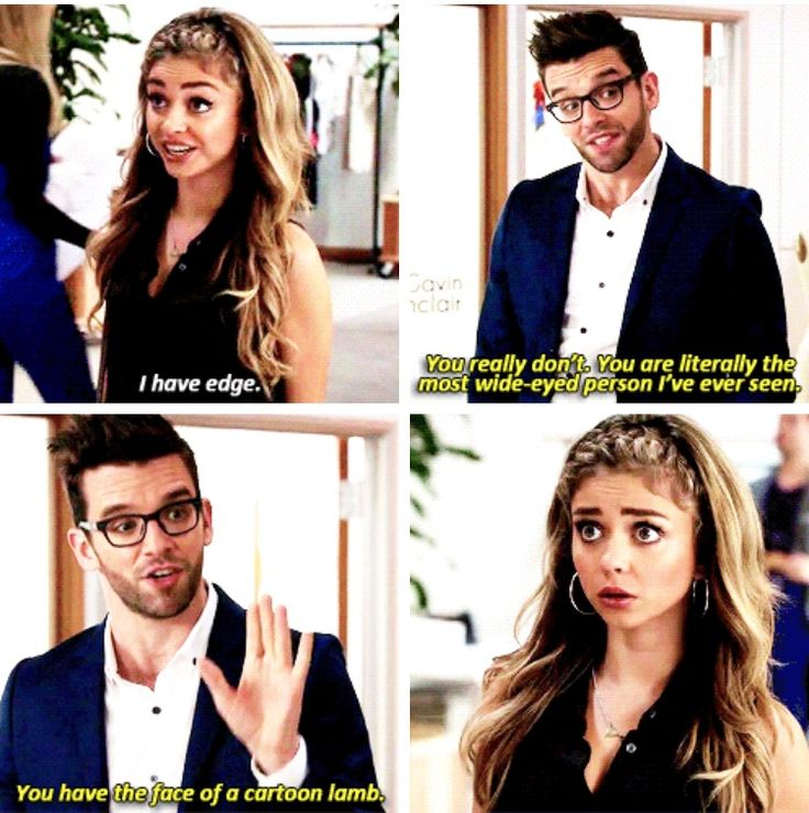 """""""I have edge"""" - Haley and Gavin, her boss #ModernFamily"""