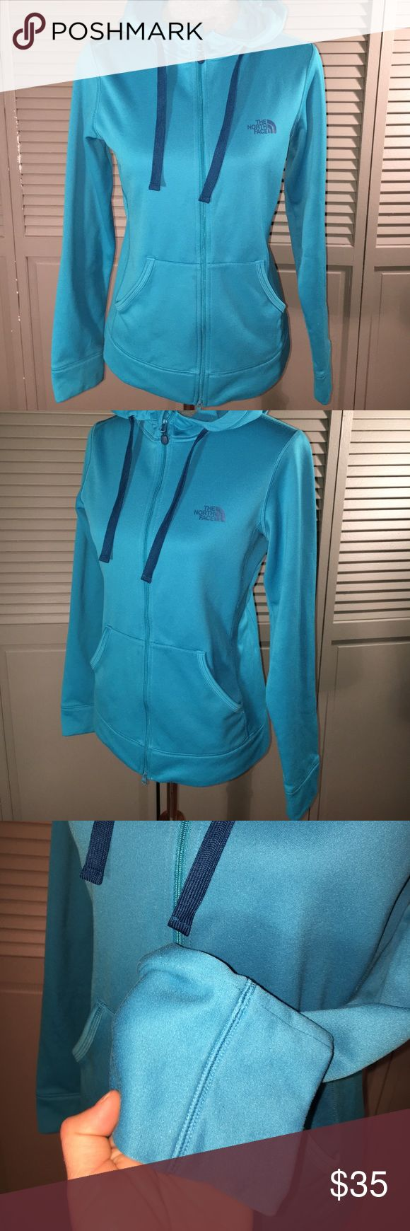 The north face blue zip up M In brand new condition the north face blue zip up. Women's size medium The North Face Tops Sweatshirts & Hoodies