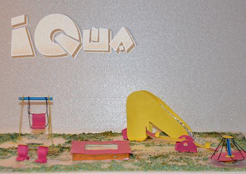 Детский двор. Игрушкам тоже хочется бегать, прыгать и лазать во дворе. Сделайте для кукол и игрушечных зверят объемную модель детской площадки!