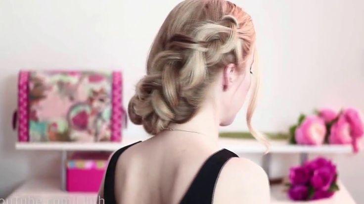 Coda di cavallo alta acconciature tutorial per capelli lunghi FIORE trec...