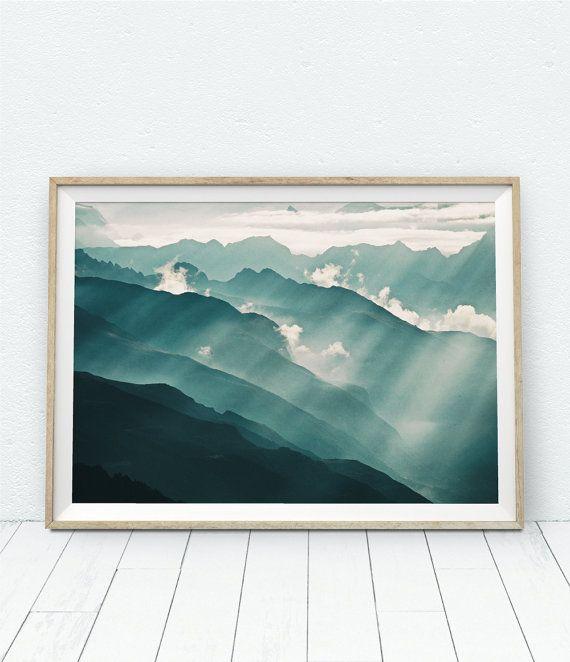 Landschaftsfotografie, Berg, Berge, Naturfotografie zu drucken, Querformat drucken, Berg Kunst Berg Wand Kunst, Berg-Dekor, Sky