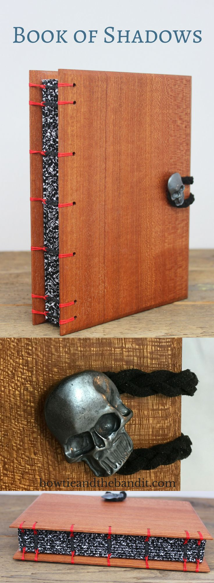 This Handcrafted Sapele Wood Book Of Shadows In Subtle And Beautiful With  180 Blank Pages