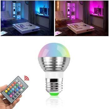 Fantastic colors and effects all at your fingertips. With the included remote you can not only change colors but also change the lighting effects of the bulb. It's about the size of a standard light b