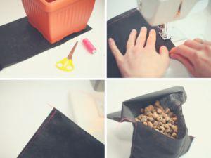 Jak zrobić drenaż w doniczce? Spróbujcie woreczków z keramzytem!