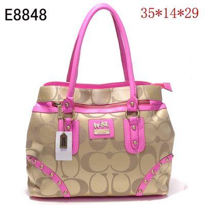 US1465 Coach Handbags Outlet E8848 - Pink 1465 (a favourite repin of VIP Fashion Australia Find preloved handbags at www.vipfashionaustralia.com )