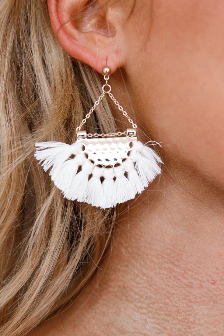 Xenia Boutique - Tassle Earrings (White)