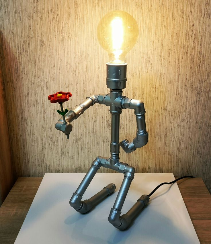 """Светильник из труб: """"Признание"""" освещение лампа Эдисона, корпус из труб. #светильник #лампа #ночник #лофт #loft #ручнаяработа #хендмейд #эпично #ессентуки #pyatigorsk #пятигорск #кисловодск #подарок #дизайн #ручнаяработа #лампаэдисона #уют #красиво #трубы  #trade_handmade"""