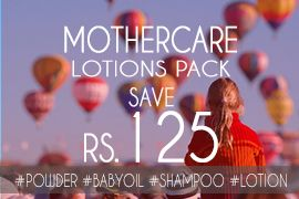 Save Rs. 125 on Mothercare Lotions Pack. Visit SafetyKart.