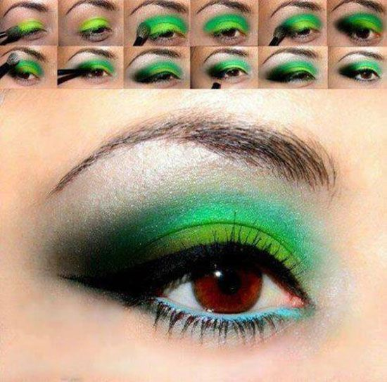 Melon-inspired eyes - Need a bold look to spice up a simple outfit? http://www.rewards4mom.com/make-2014-year-beauty-fun-makeup-tutorials/