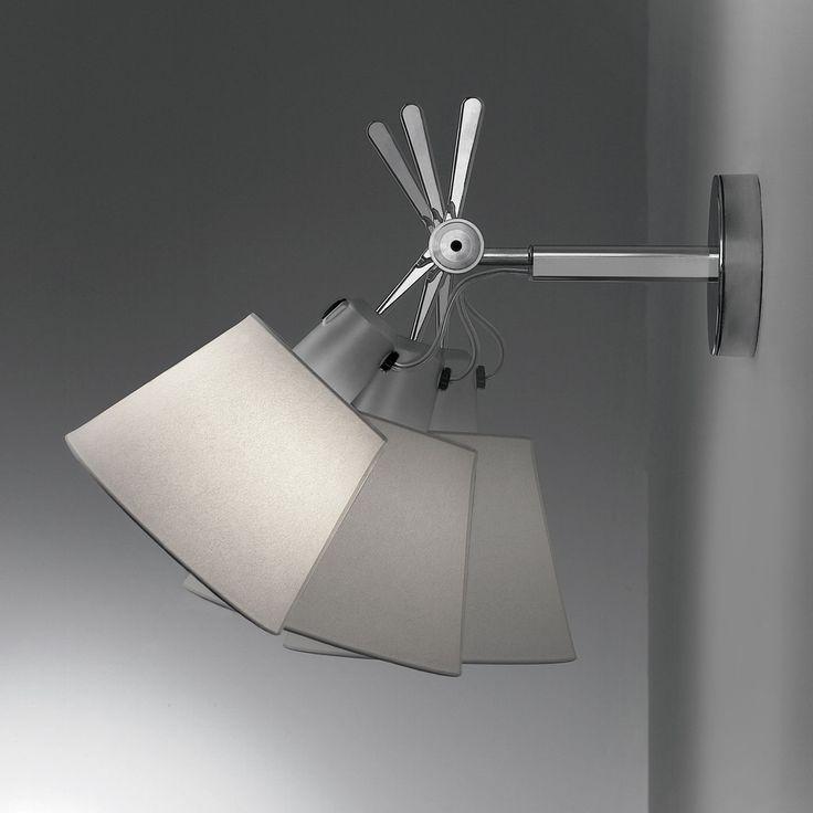 Artemide TOLOMEO - Applique Orientable Fluo Gris L24cm