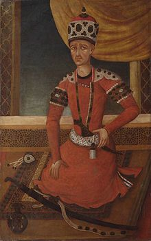 Portret van Agha Mohammad Khan Qajar Regeren1789 - 17 juni 1797